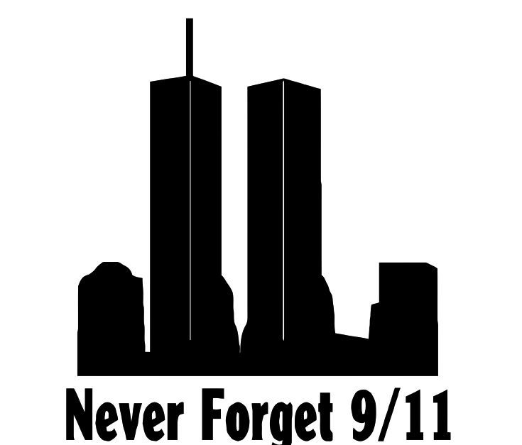 Never Forget 9/11 NYC World Trade Center Sticker Decal.
