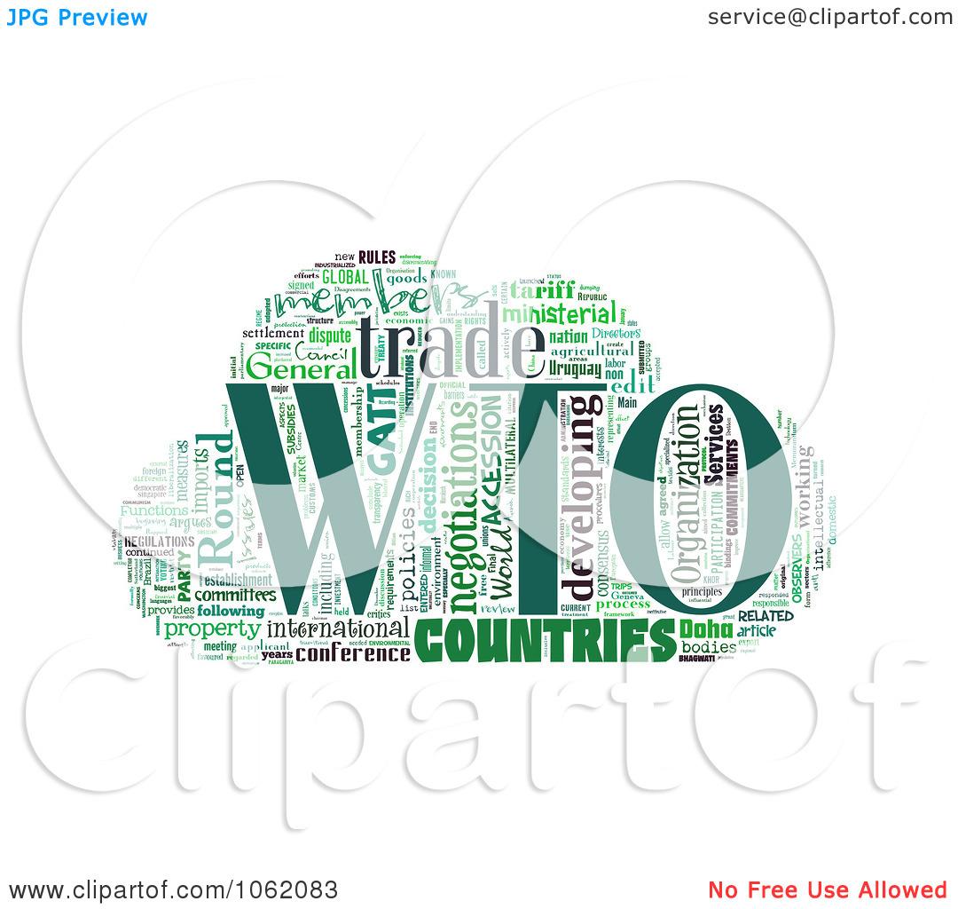 Clipart World Trade Organization Word Collage 1.