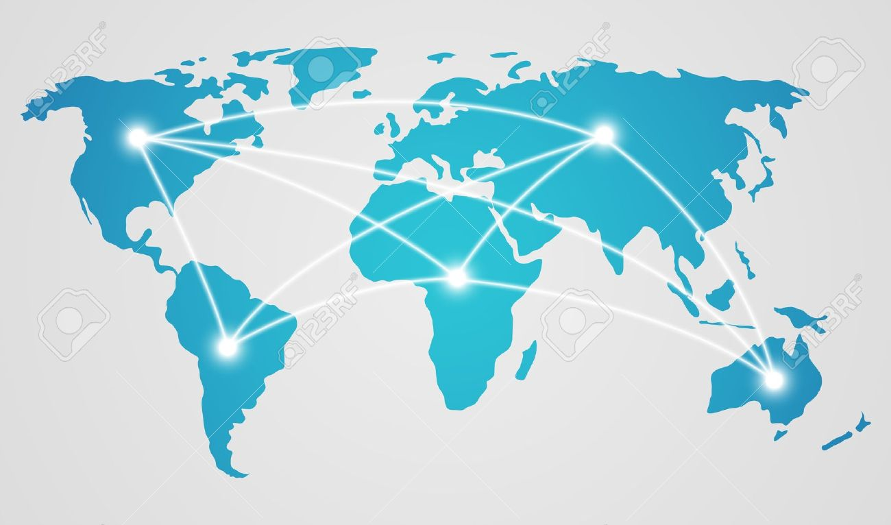 Global map clipart.