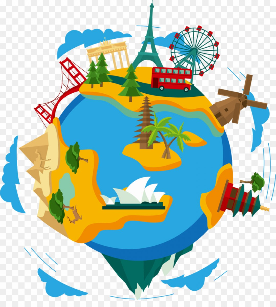 Png Earth Clip Art Global Travel Route Vector.