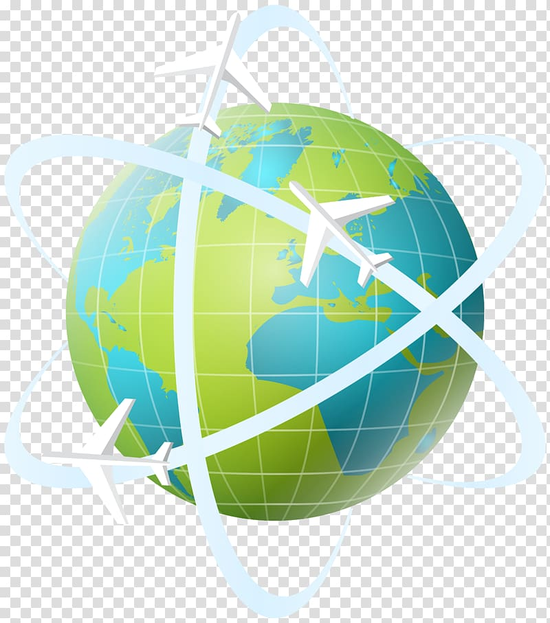 Blue and green globe, Travel , World Travel transparent.