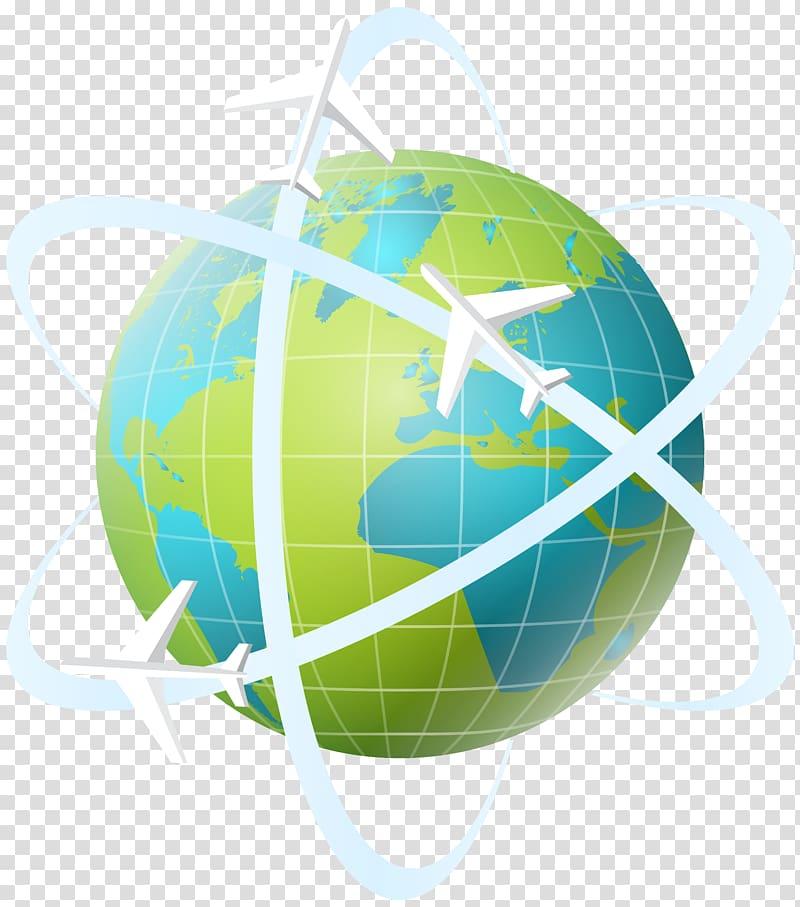 Blue and green globe, Travel , World Travel transparent.