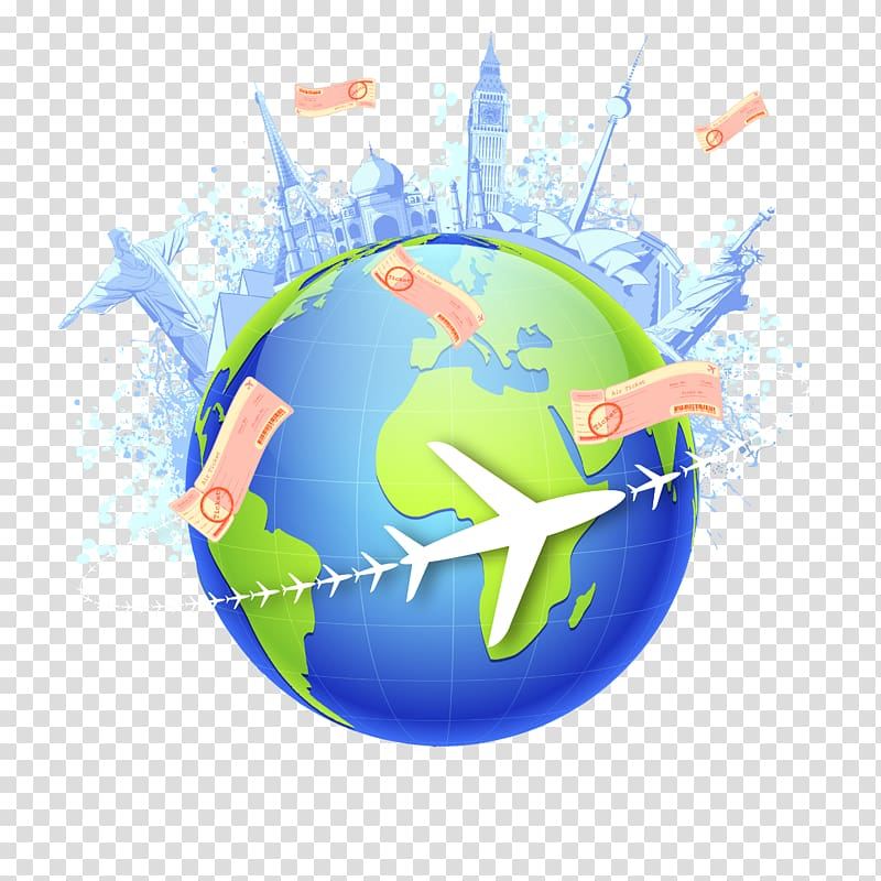 Air travel Global Travel, model transparent background PNG.