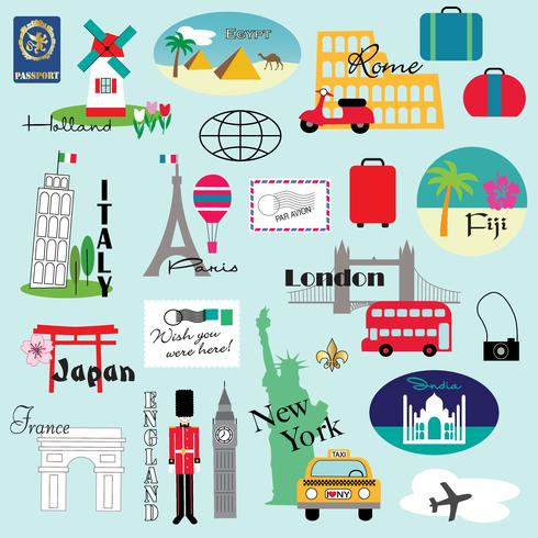 world travel clipart.