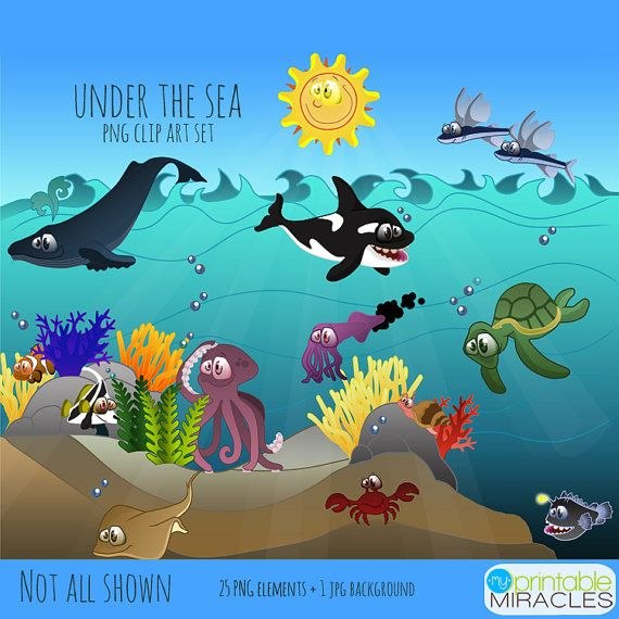 Under the Sea Clipart Package / Ocean theme Clip Arts from.