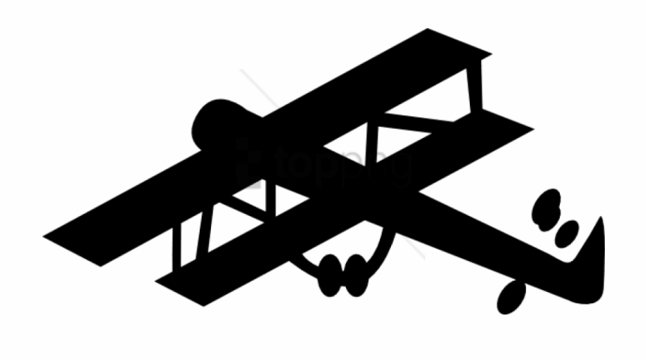 World War 1 Plane Silhouette Png Image With Transparent.