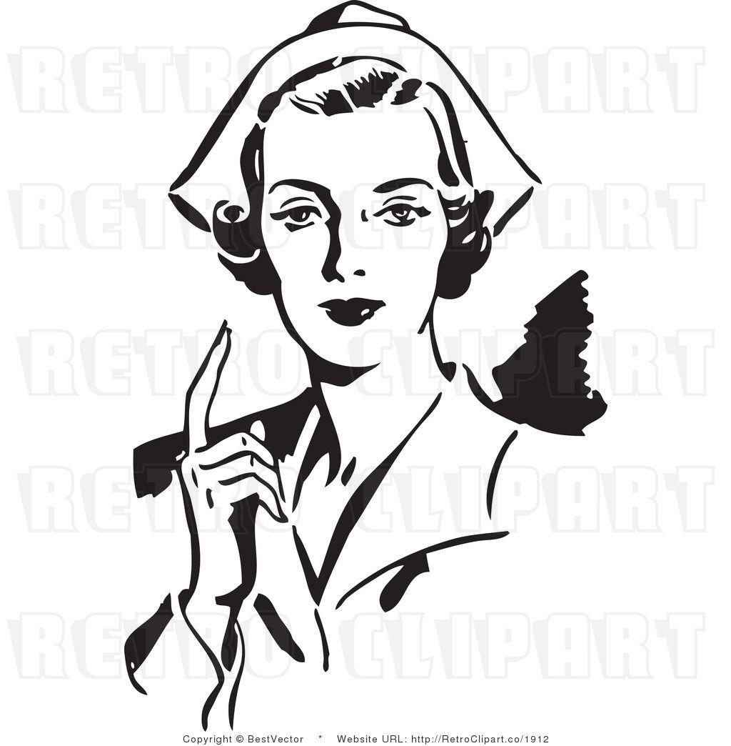 Retro clipart nurse, Retro nurse Transparent FREE for.