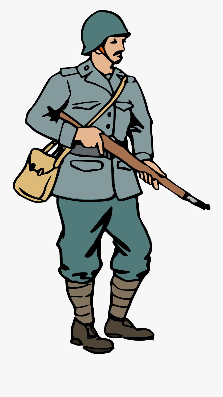 Free World War Ii Italian Soldier Clip Art.