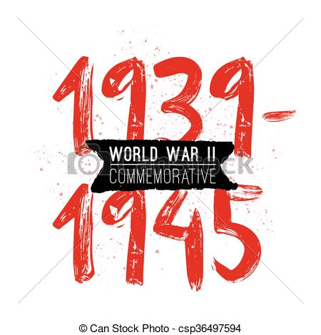 World war II commemorative day. Vector design..