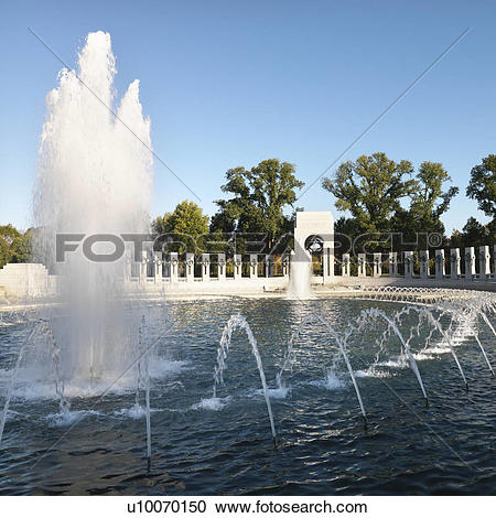Stock Photography of World War II Memorial in Washington D.C..