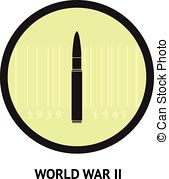 Vector Clipart of World War II commemorative symbol with dates.