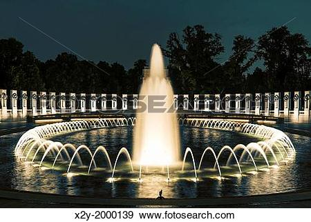 Stock Photograph of The World War II Memorial, National Mall.