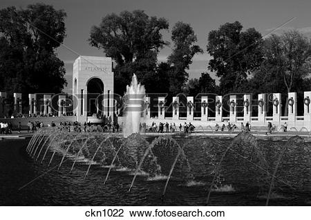 Stock Photo of Washington, D.C., World War II Memorial ckn1022.
