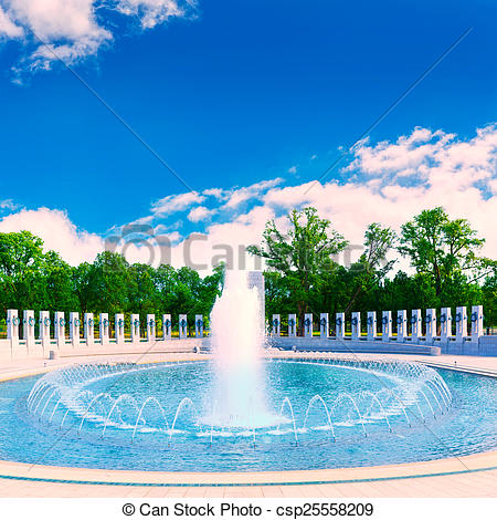 Stock Photography of World War II Memorial in washington DC USA at.
