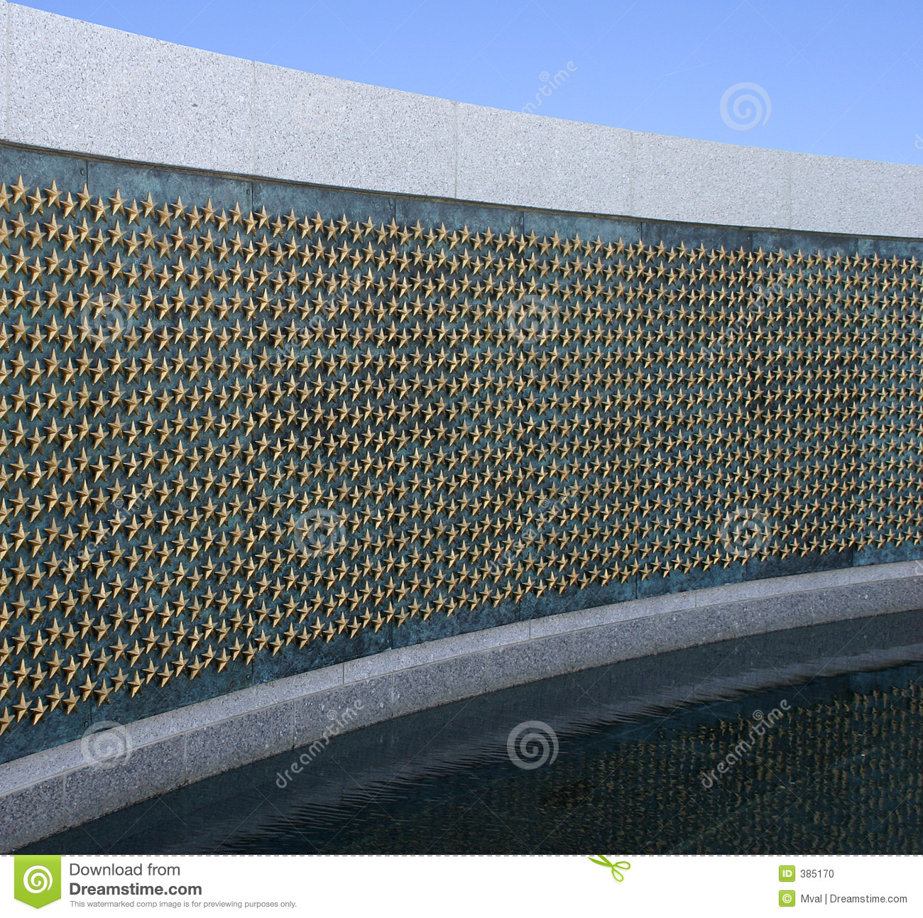 DC World War 2 Memorial Stars Royalty Free Stock Images.