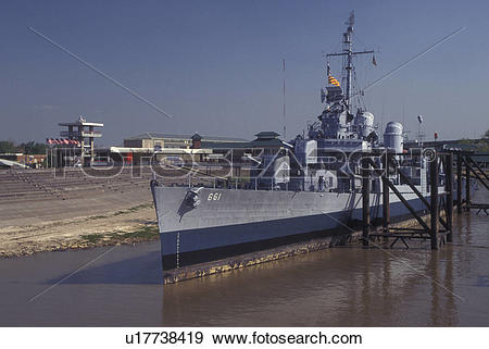 Stock Photograph of Baton Rouge, LA, Louisiana, Mississippi River.