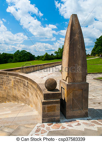 Stock Photos of World War Memorial in Lidice.
