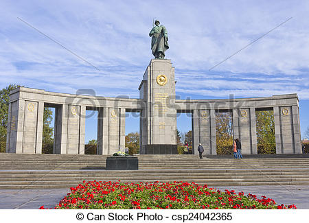 Stock Image of Soviet WW2 memorial, Berlin.