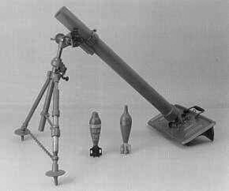 Mortar, 81mm M1 81mm Medium Infantry Mortar.