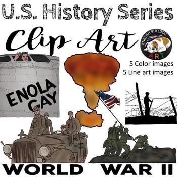 World War 2 World War II Clip Art Set 5.