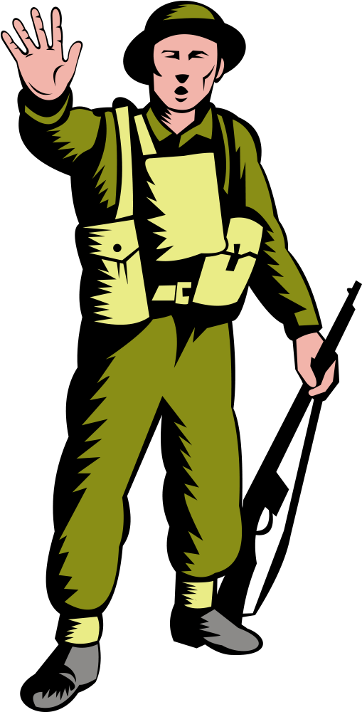 Janitor Clipart Male World War Two Soldier Clipart.