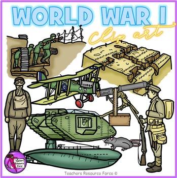 World War 1 clip art by Teachers Resource Force.