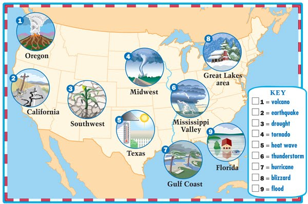 Blizzard clipart weather map, Blizzard weather map.