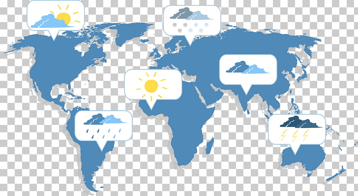 Weather forecasting Climate Weather map, World weather map.