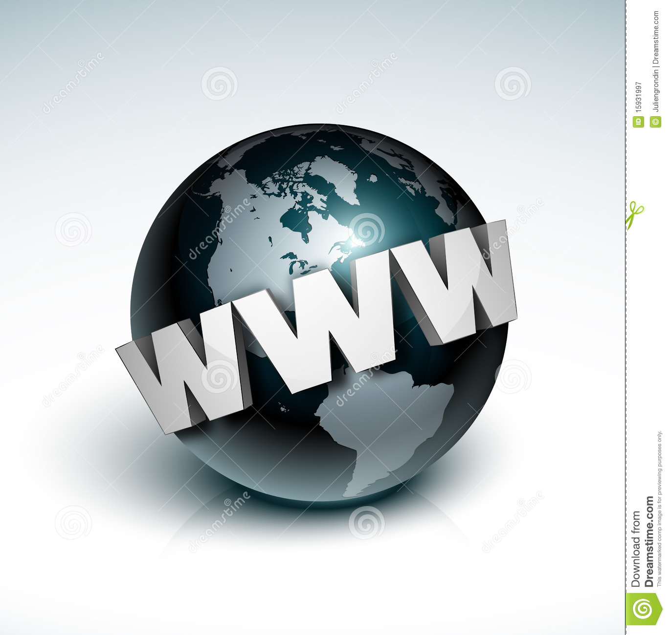 Earth And World Wide Web Royalty Free Stock Image.