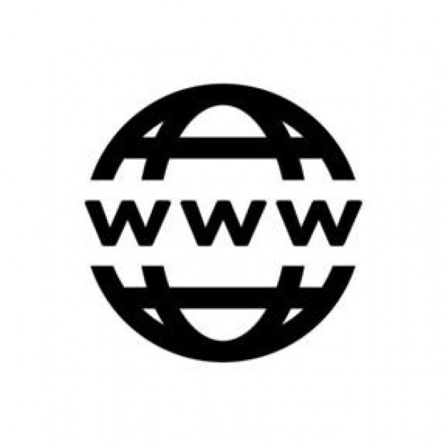 World wide web clipart black and white.