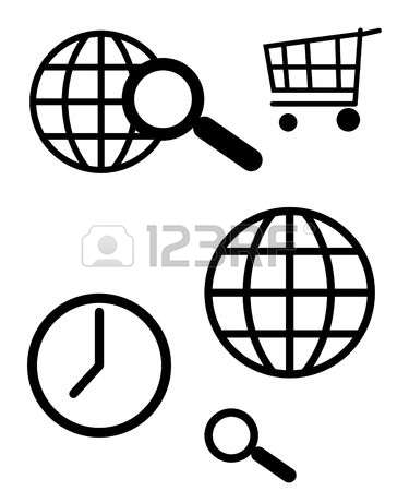 326 World Wide Web Silhouette Stock Vector Illustration And.