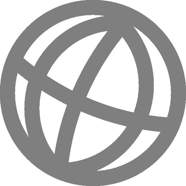 Black Globe Icon Clip Art at Clker.com.