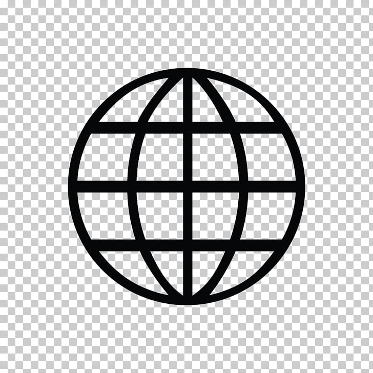 World Wide Web Symbol Icon, Web Symbol s, round black.
