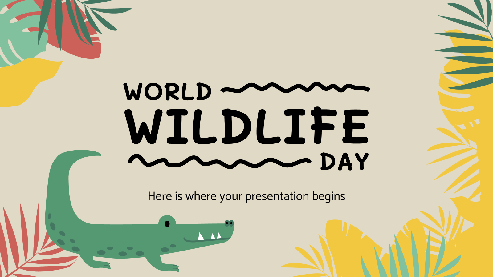 World Wildlife Day Google Slides Theme and PowerPoint Template.