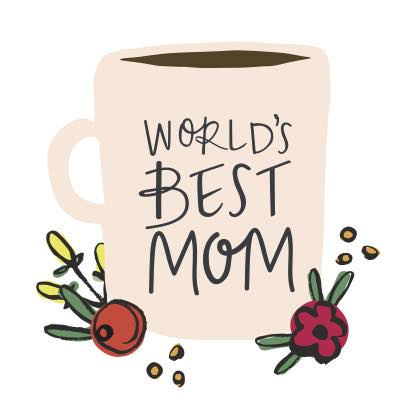 World\'s Best Mom. Free Make Her Smile eCards, Greeting Cards.