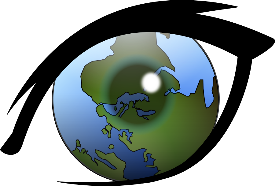 Clip art of the world.