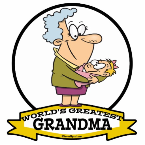 WORLDS GREATEST GRANDMA WOMEN CARTOON PHOTO CUTOUT.