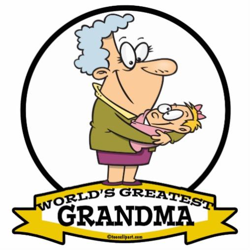 WORLDS GREATEST GRANDMA WOMEN CARTOON PHOTO CUTOUT.
