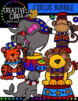 Circus Bundle {Creative Clips Digital Clipart}.