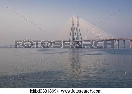"Picture of ""Bandra–Worli Sea Link, or Rajiv Gandhi Sea Link."