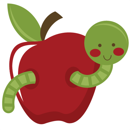 Worm In Apple SVG file for scrapbooking worm svg file apple.
