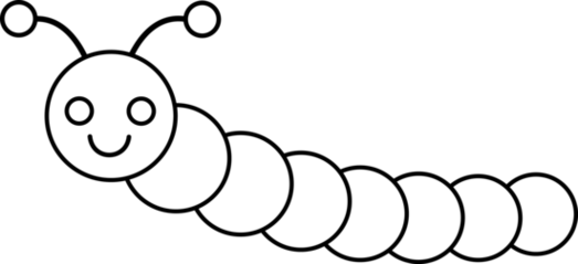Black and white worm clipart free to use clip art resource.
