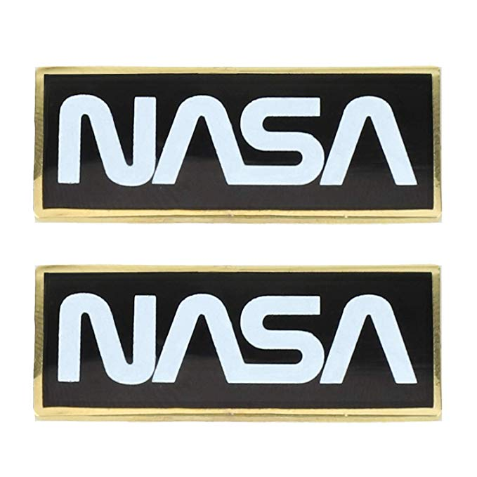 Amazon.com: Official Licensed Metallic NASA Worm Logo Pin.