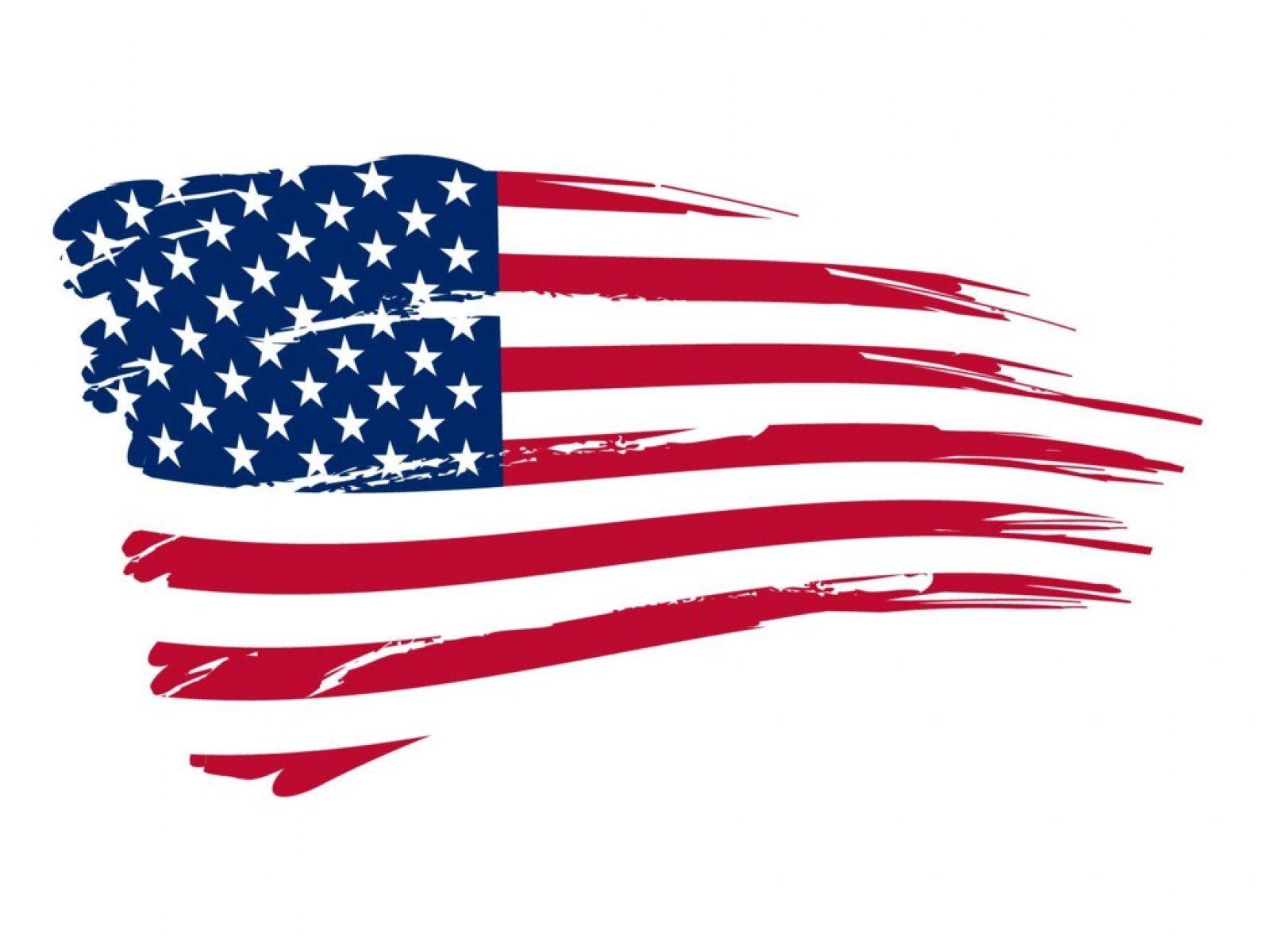 Worn American Flag Clipart.