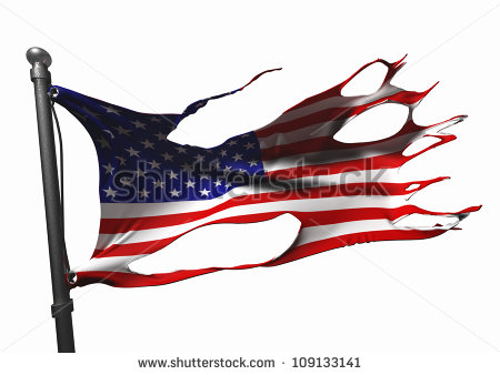 Tattered Flag Stock Images, Royalty.