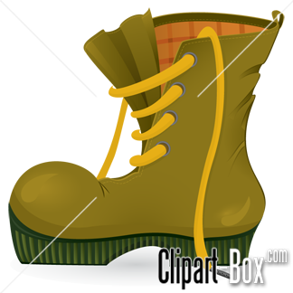 CLIPART WORN TRAVEL SHOE.
