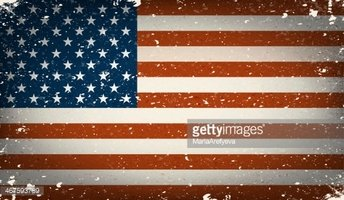 Grunge Worn Out American Flag Illustration Stock Vector.