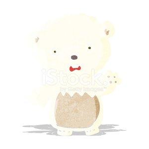 cartoon worried polar bear Clipart Image.