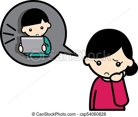 Worried Mother Clipart.