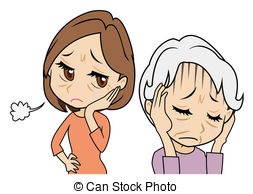 Worried mother Clipart and Stock Illustrations. 393 Worried.